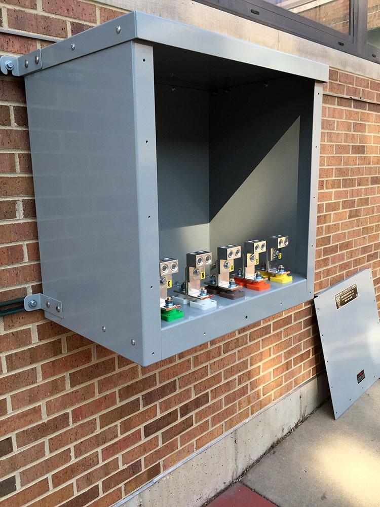 Generator Connection Cabinet Diagram