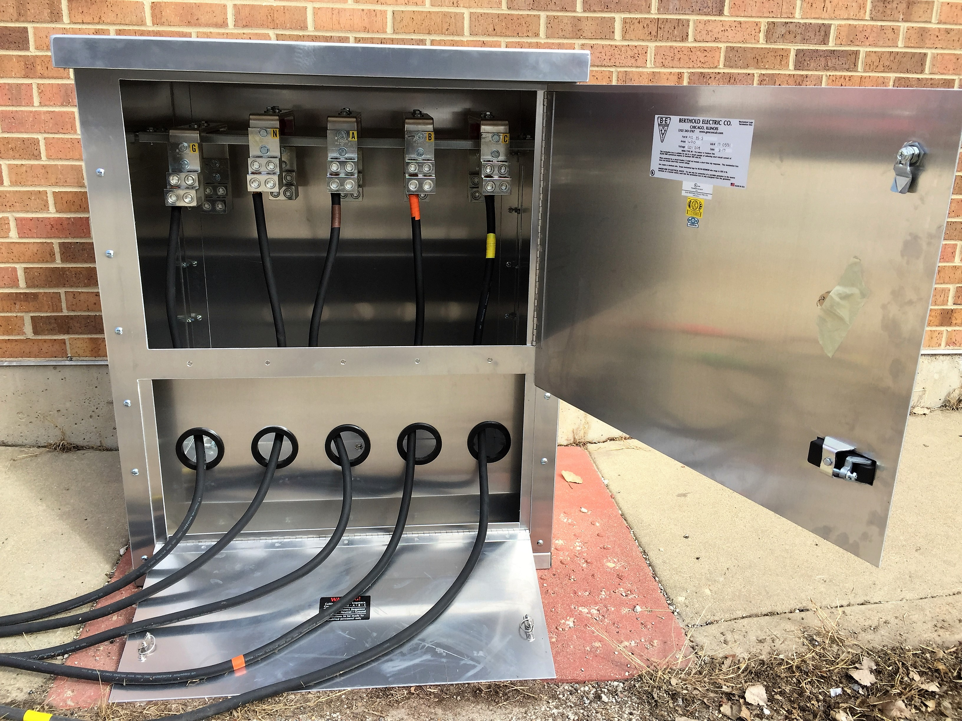 Pad Mounted Generator Connection Box Berthold Electric